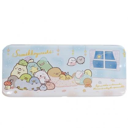 小禮堂 角落生物 掀蓋鐵筆盒 鉛筆盒 鉛筆袋 文具盒 (藍 窗戶)