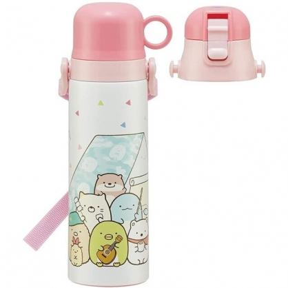 小禮堂 角落生物 兒童兩用保溫瓶 580ml (露營款)