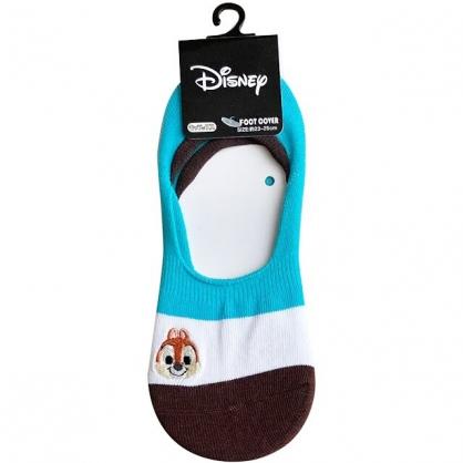 小禮堂 迪士尼 奇奇 成人隱形襪 腳長23-25cm (條紋款)