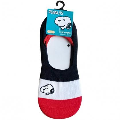 小禮堂 史努比 成人隱形襪 腳長23-25cm (條紋款)