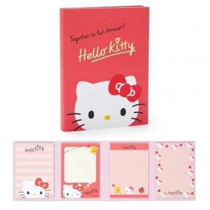 小禮堂 Hello Kitty 日本製 多折便條本 (果凍文具款)