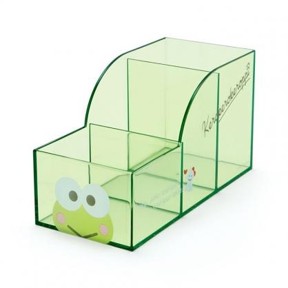 小禮堂 大眼蛙 透明三格筆筒 (果凍文具系列)