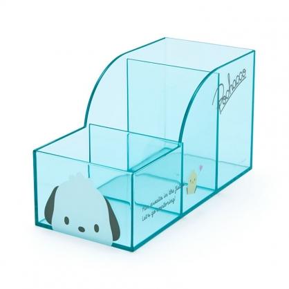 小禮堂 帕恰狗 透明三格筆筒 (果凍文具系列)