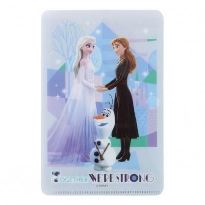 小禮堂 迪士尼 冰雪奇緣 兒童口罩夾 (藍牽手款)