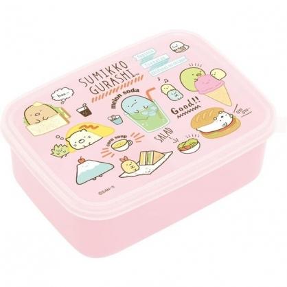 小禮堂 角落生物 日本製 微波保鮮盒 600ml (粉食物款)