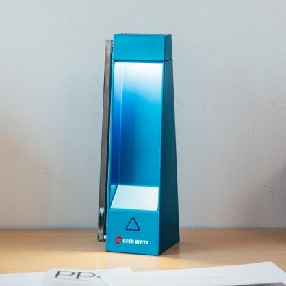 LED三角護眼檯燈 內建鋰電池 可調整角度 USB充電 台灣安規認