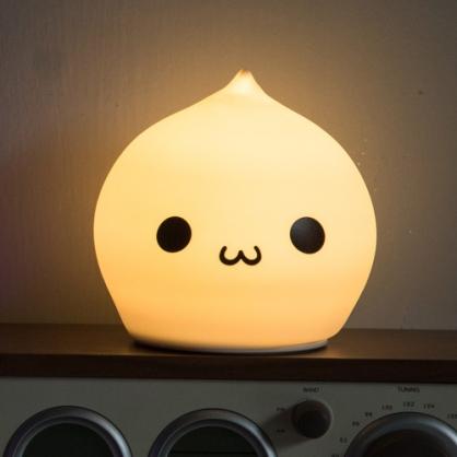 包子七彩LED互動小夜燈-充電款