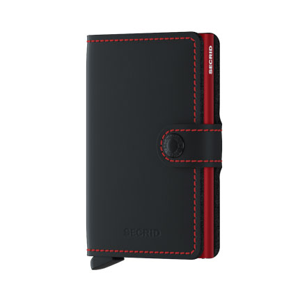 Secrid Miniwallet Matte Black&Red
