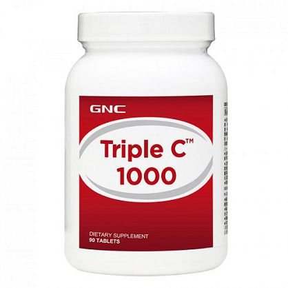 【GNC 健安喜】三效維生素C1000食品錠(90粒)