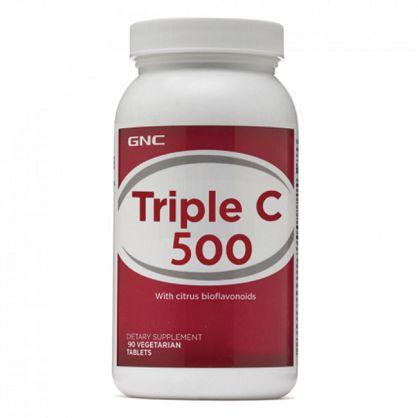 【GNC 健安喜】三效維生素C500食品錠(90粒)