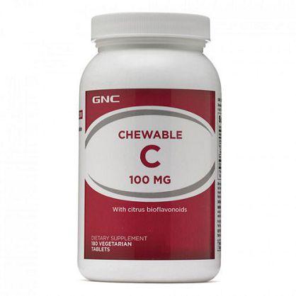【GNC 健安喜】喜維C食品錠100mg(180錠)