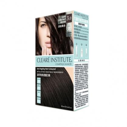 【CLEARE INSTITUTE】可麗兒植萃染髮劑3.0 深棕黑色(155ml)