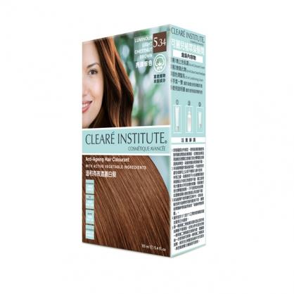 【CLEARE INSTITUTE】可麗兒植萃染髮劑5.34 亮淺棕色(155ml)