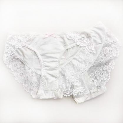 內衣Hush清甜果香蕾絲小褲組6入-米白(貼身衣物不做退換)