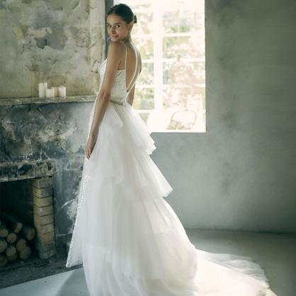 Arlene+Zora極光璀璨多層次活動拖擺婚紗