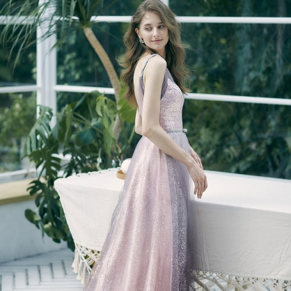 Iris漸層星紗炫麗禮服