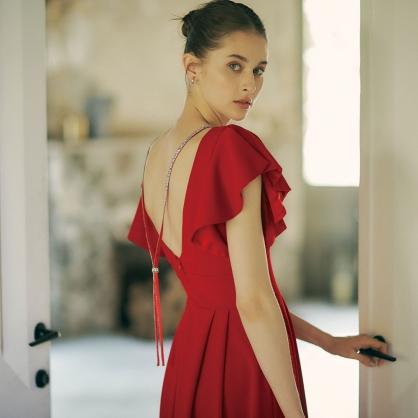 Kate典雅公主美背宴會服