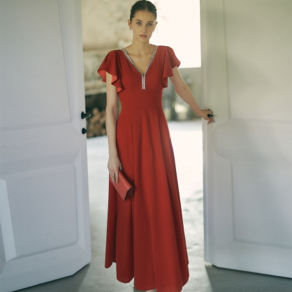 Kate典雅公主美背及地宴會服
