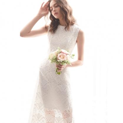 Kristin克莉絲汀 時尚動人刺繡洋裝 禮服,輕婚紗,自助婚紗,浪漫洋裝
