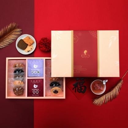 新春十全十美禮盒(花草茶+手工餅乾)