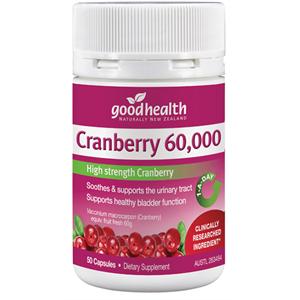 紐西蘭 Goodhealth Cranberry 60000 50s 好健康 蔓越莓 50粒