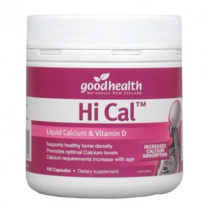 紐西蘭 Goodhealth Hi Cal Liquid Calcium 350 150s 好健康 液體鈣膠囊  150粒