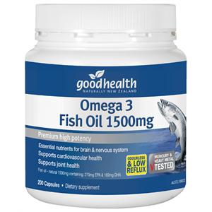 紐西蘭 Goodhealth Fish Oil 1500mg 200s 好健康 魚油膠囊 200粒