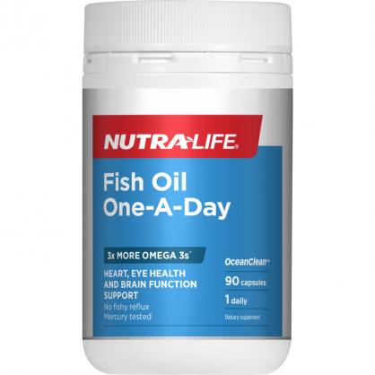 紐西蘭 Nutralife Fish Oil One-A-Day 90s 紐樂高含量深海魚油 90粒
