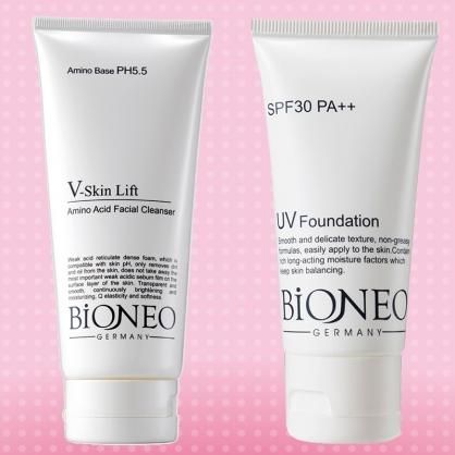 [百妮Bioneo]完美V緊緻胺基酸洗面霜200ml+水潤淨透隔離防曬霜SPF30 PA++ 50ml