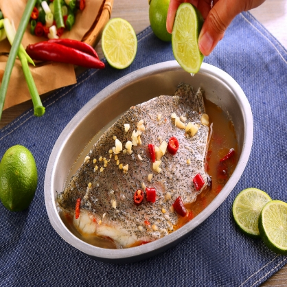 破布子石斑魚排 (350g魚排/100cc醬包)