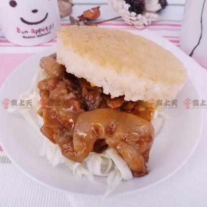 紅龍米漢堡(洋菇豬)(170gx3顆/包)