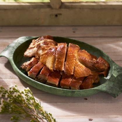 龍眼木燻雞半雞切盤