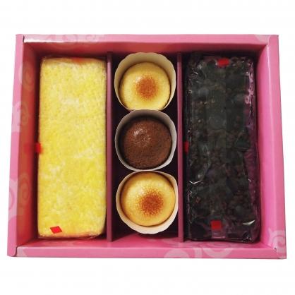 彌月禮盒組(長型蛋糕2入+雪果子3入)