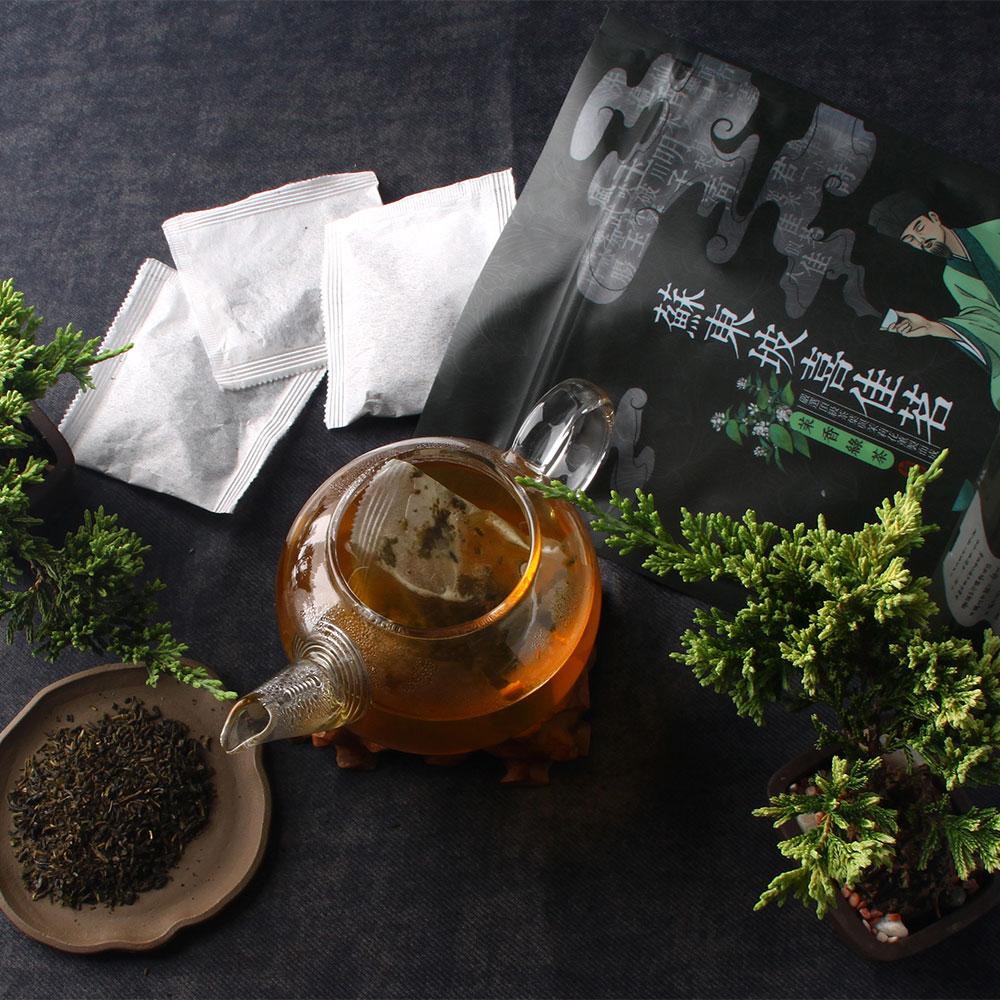 【經典】蘇東坡喜佳茗-茉香綠茶包-夾鏈立袋20入