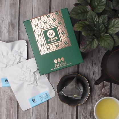 【頂級】三角立體原片茶包-台灣高山青心烏龍茶-盒裝8包(16入)