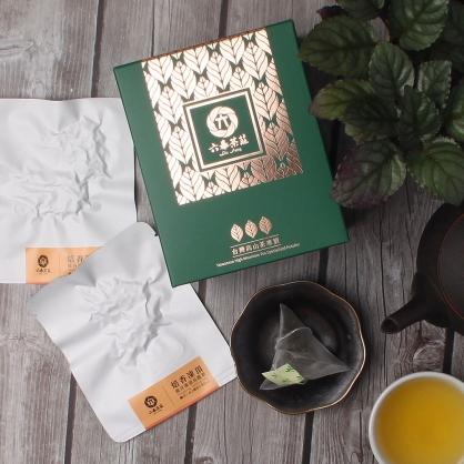 【頂級】三角立體原片茶包-鹿谷凍頂烏龍茶-盒裝8包(16入)