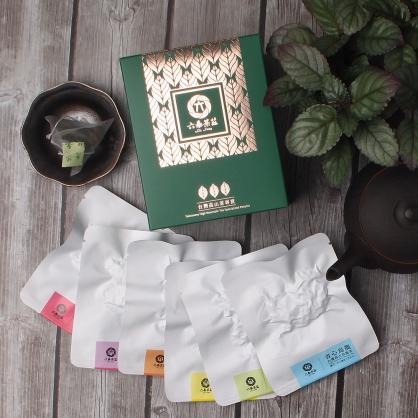【頂級】三角立體原片茶包-六種口味綜合-盒裝8包(16入)