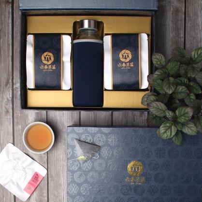 【頂級】三角立體原片茶包-日月潭紅玉紅茶-禮盒12包-附隨身瓶