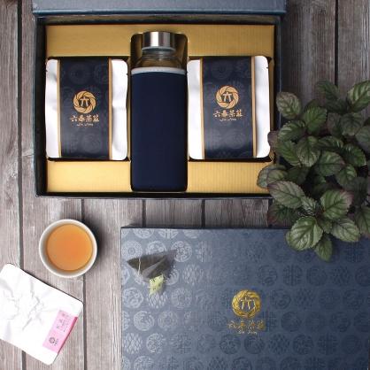 【頂級】三角立體原片茶包-台東鹿野紅烏龍-禮盒12包-附隨身瓶