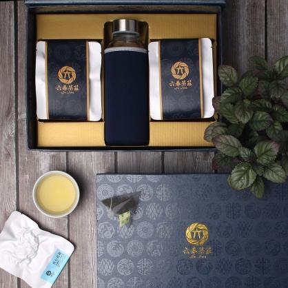 【頂級】三角立體原片茶包-台灣高山烏龍茶-禮盒12包-附隨身瓶