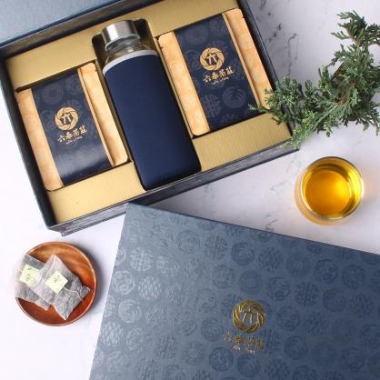 【精裝】嚴選凍頂烏龍茶包-禮盒12包-附隨身瓶