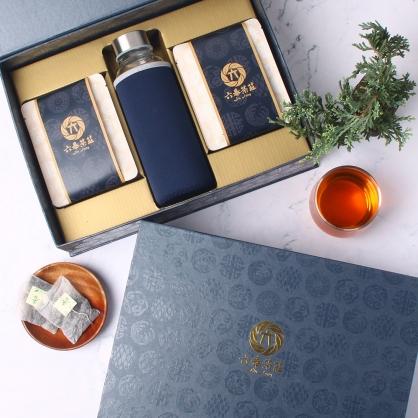【精裝】嚴選桂花烏龍茶包-禮盒12包-附隨身瓶