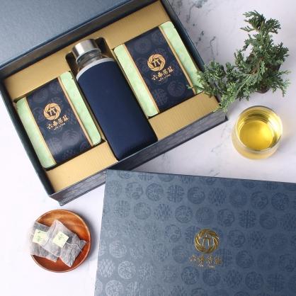 【精裝】嚴選茉香綠茶包-禮盒12包-附隨身瓶