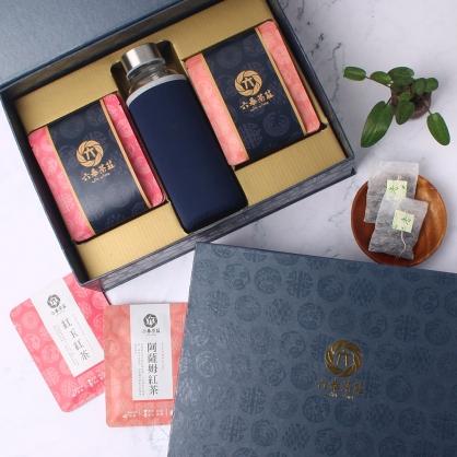【精裝】嚴選紅玉紅茶&阿薩姆紅茶包-禮盒12包-附隨身瓶
