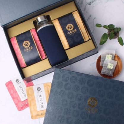 【精裝】嚴選紅玉紅茶&凍頂烏龍茶包-禮盒12包-附隨身瓶