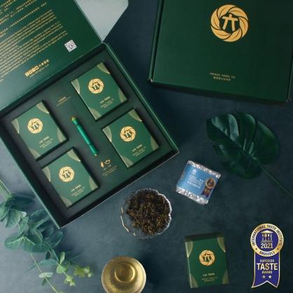 雪窖烏龍青茶(二兩75g)x4-半斤茶葉禮盒