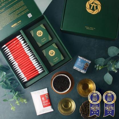 蟬覓美人原片茶包20入+雪窖烏龍青茶(二兩75g)x2-茶包茶葉禮盒
