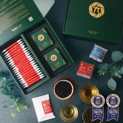 蟬覓美人原片茶包20入+蟬覓美人茶(二兩75g)x1+雪窖烏龍青茶(二兩75g)x1-茶包茶葉禮盒
