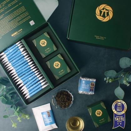 雪窖烏龍原片茶包20入+雪窖烏龍青茶(二兩75g)x2-茶包茶葉禮盒
