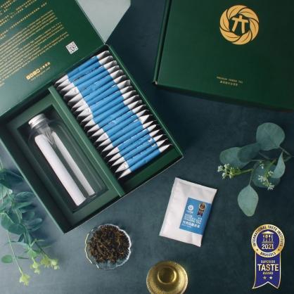 雪窖烏龍青茶原片茶包20入-茶包禮盒-附PET冷泡瓶